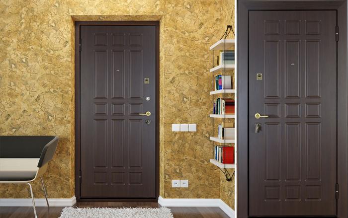железная дверь внутри квартиры