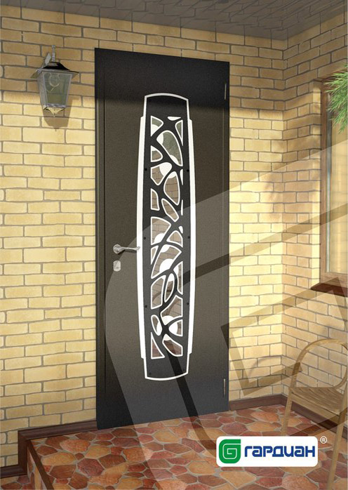 декоративная вставка на металлической двери